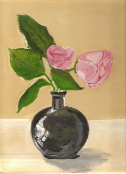 Still life, Vase and Roses by Kernowz