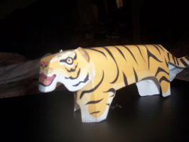 Tiger- papercraft by Darkflametailz
