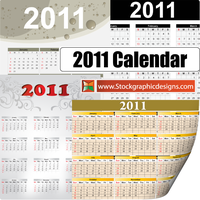 2011 Free Vector Calendar by Stockgraphicdesigns