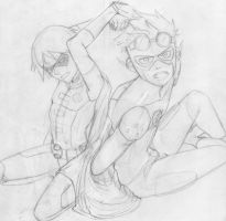 KidFlash and Robin Request - Work in process by AlejaS