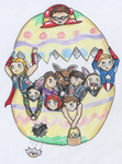 Happy Easter from The Avengers and Co. by ReshiraCat