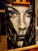 On my easel 16-3-11 by M--Art