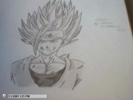 drawing of ss2 Gohan by StaticFOOL100