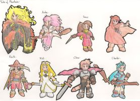 Tales of Phantasia Characters by Dan-ja-man