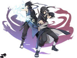 Sasuke and Itachi Render by Dragha