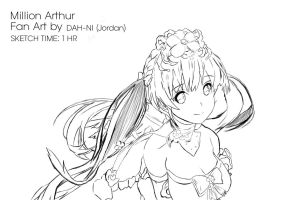 Fan Art for Mobile Game: Million Arthur by dah-ni