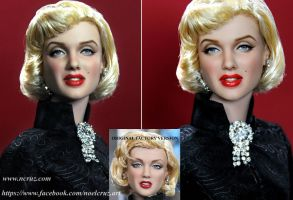 Marilyn Monroe custom doll repaint by noeling