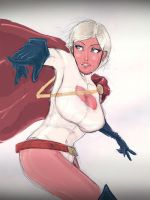 power girl sketch by Blitz-Wing