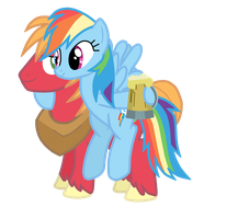 Rainbow Dash and Big Macintosh by DrumblastingQuilava