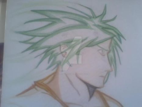Cool green haired guy by ArtistKj8300Anime