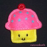 Tiny Cupcake Plushie by cuteordeath