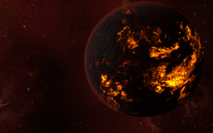 Volcanic Planet by EVE-phile