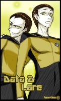 Lt Commander Data and Lore by ManjyomeTheObelisk