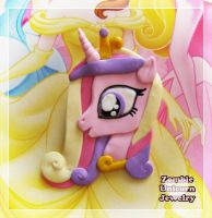 Princess Cadance 2 in 1 brooch and pendant by Galadriel89
