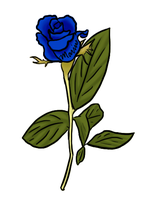 Blue Rose by spagetti-sauce