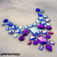Bold Blue and Purple Necklace by Natalie526