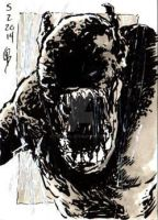 5/2/2014 6/4/2014 Daily Sketch Card - Horror Show by tbeistel