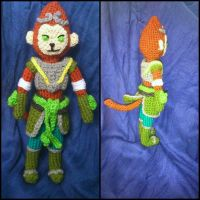 Jade Dragon Wukong amigurumi from League of Legend by ForgottenMermaid