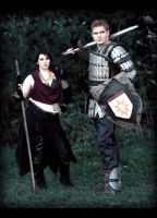 Morrigan and Alistair by mrbob0822