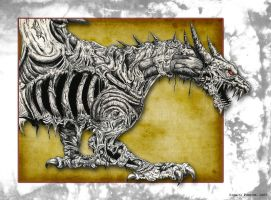 Undead Dragon - Ink Series by RonaldoTheJim