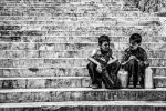 Kids at the stairs by Masisus