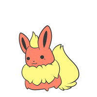 Super chubby chibi Flareon by The-Earth-Mistress