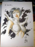 A Carol Sketch in Lucca Comics and Games by lilin1988