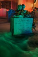 Halloween Night 2011 - Belmonte Twins Headstone by thatjonesgirl