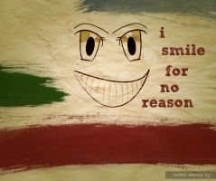 Smile For No Reason Wallpaper by pointblankcreativity