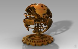 Steampunk World Desk Decoration by MacBurrito