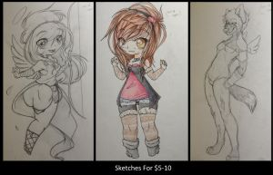 $5 traditional commissions by coffaefox