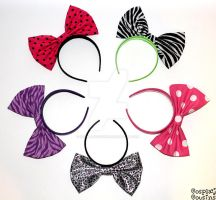 Big Bow Headbands by CosplayCousins