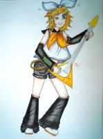 Rin Kagamine by lullabyly