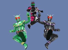 MMD NC 2-Pack - FFR Kamen Rider Double CC and JJ by Zeltrax987