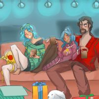 Commission for Tygerlander: Shiroitora and family by Sogequeen2550