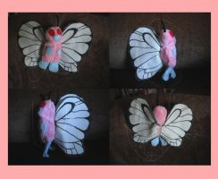 Pink Butterfreee 8D -plush- by lonesome-wolf-child