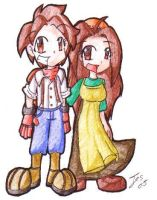 harvest moon couple by Pyrofish