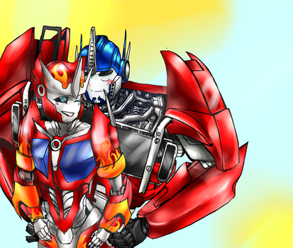Com Optimus And Causeway by XD-or-what