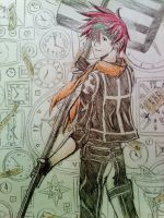 Lavi - D.Gray-man (clocks) by 67Luna