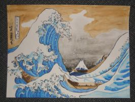 The Great Wave Off Kanagawa by Sakura-Koi