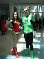 Wonder woman and Green Lantern by My2Wings