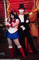 Sailor Damara and Tuxedo Mask Rufioh by miwafwakes