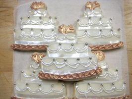 Wedding Cake Cookies by forgetmmenot