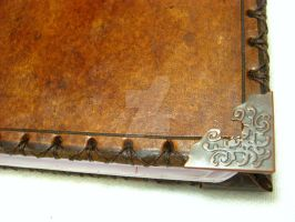 Hand Made Leather Book by OfTheGodsBlood