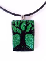 Ancient Tree Fused Glass by FusedElegance