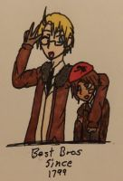 Hetalia- Best Bros - Colored - by Karma-Maple