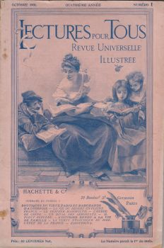 Stock - Antique vintage french magazine cover by Algesiras