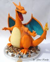 Charizard Pokemon Character Cake by ginas-cakes