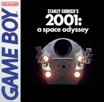 '2001: A Space Odyssey' GB game cover by Tito-Mosquito