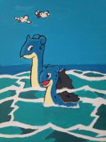 Lapras Painting by Paige-the-Skitty